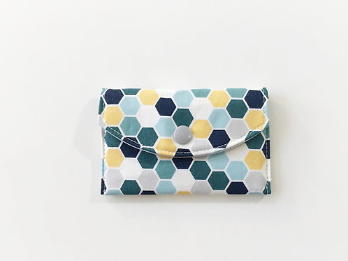 Geometric card wallet, Card pouch, Card holder wallet fabric