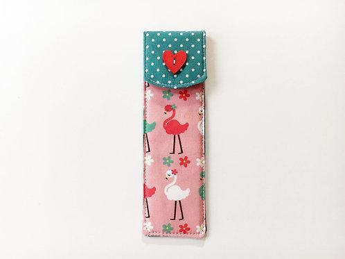 Pen case holder,FREE cute pen,Small pencil case,Pen pouch,Coworker gift