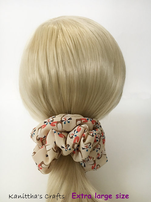 Chiffon scrunchies Extra large size-Ponytail holder-Hair tie accessories