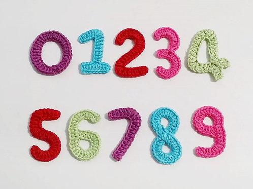 Crochet number applique,Patches,Handmade decorative