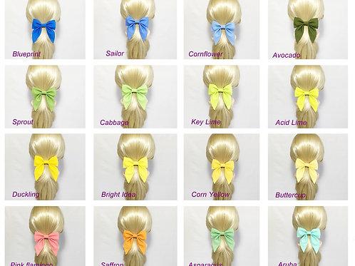 Silor hair bow clip,Hair bow for girl,Big bow for hair,Dance outfit