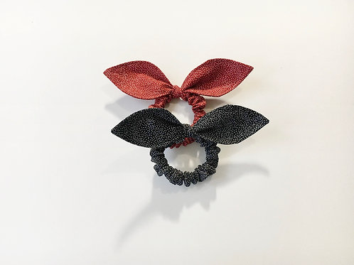 Hair scrunchie starry night,Ponytail holder,Scrunchy,Scrunchie with bow