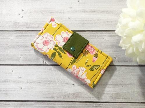 Floral women's wallet,Slim Bifold wallets, Unique fabric wallet