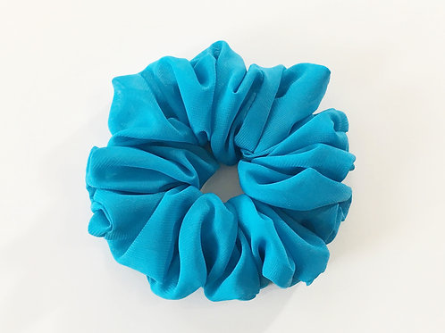 Chiffon scrunchies blue color-Ponytail holder-Boho hair tie