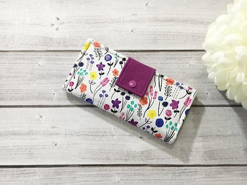 Floral women's wallet,Slim Bifold wallets,Unique fabric wallet