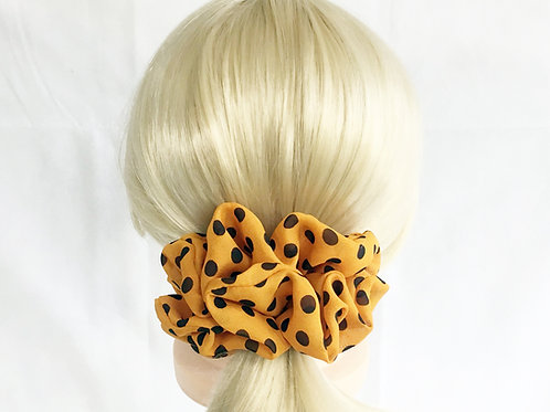 Chiffon scrunchies polka dot large size-Ponytail holder-Hair tie accessories