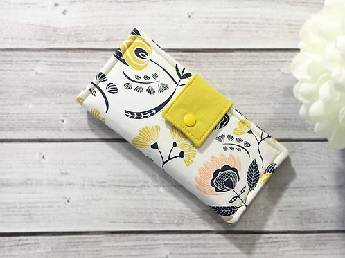 Women's wallet floral oasis,Slim Bifold wallets, Unique fabric wallet