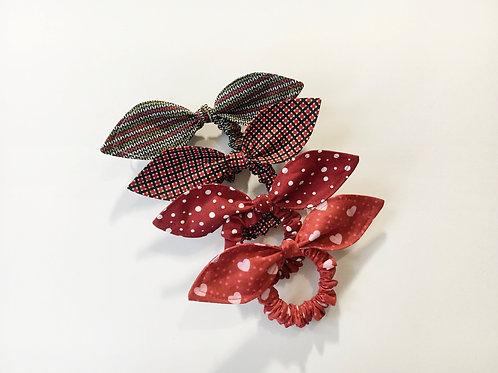 Hair scrunchie,Ponytail holder,Scrunchy,Scrunchie with bow