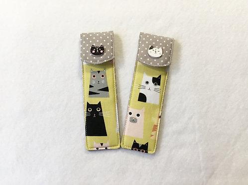 Pen case,Pen sleeve,FREE cute pen,Small pencil case,Pen pouch,Coworker gift