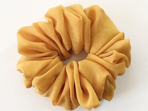 Chiffon scrunchies gold color-Ponytail holder-Boho hair tie