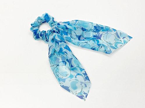 Chiffon hair scarf,Hair scrunchie