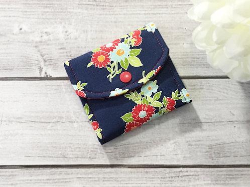 Small wallets for women,Minimalist wallet,Slim wallet,Floral women wallet