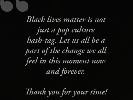 Food for thought, Salsa and Black lives Matter!