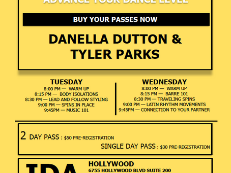 A Two Day Dance Intensive with Danella Dutton and Tyler Parks