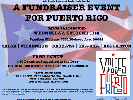 A Salsa Fundraising Event for Puerto Rico