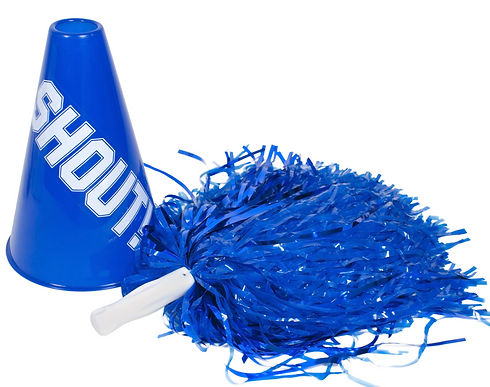 Pom pom and megaphone used for cheering