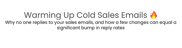 Cold Sales Email Mini MasterClass