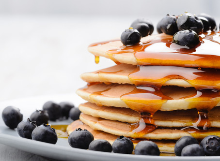 Honey Blueberry Pancakes