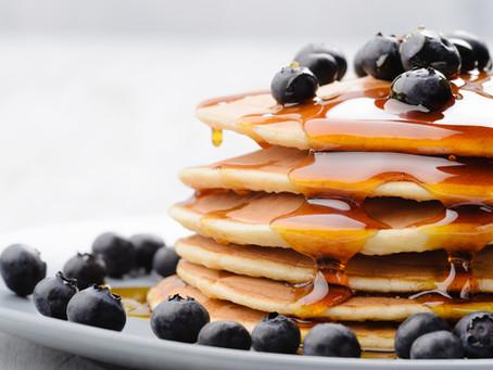 Honey Blueberry Pancakes