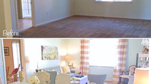 Transformation of a Basic Base House Living Room - NAS Lemoore