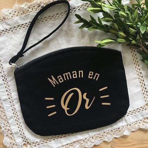 Pochette Maman en Or