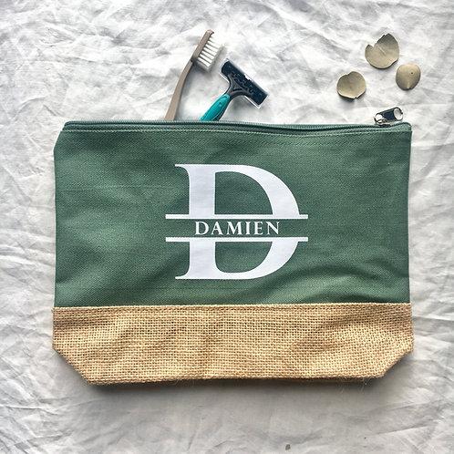 Trousse de toilette coton/jute - Damien