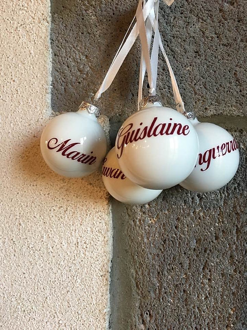 Boule de Noël personnalisée