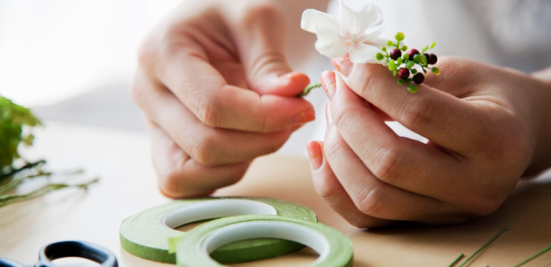Herstellung von Blumenarrangements