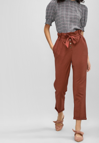 Paperbag waist pant