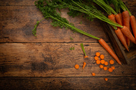 Carrots on Farmhouse Table