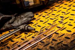 Gas welding equipment on Yellow Checkerp