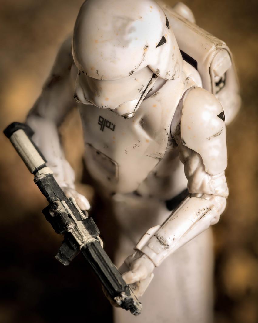 Trooper on Patrol. Star Wars Black Series