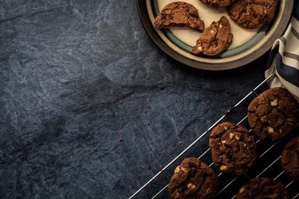 Chocolate Cookies Freshly Baked