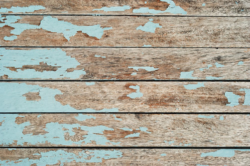 112. Blue Paint Country Table - A1 Vinyl Photo Backdrop