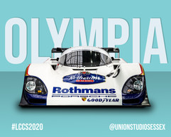 Rothmans Porsche Classic Car Poster Style