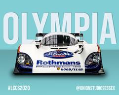 Rothmans Porsche Classic Car Poster Style