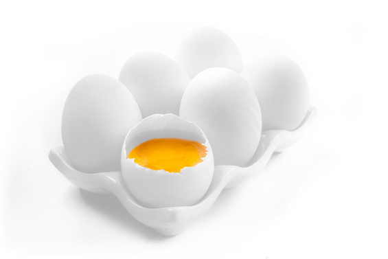 White Eggs in Tray Food Photography