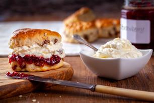 Scones with Strawberry Jam & Fresh Cream