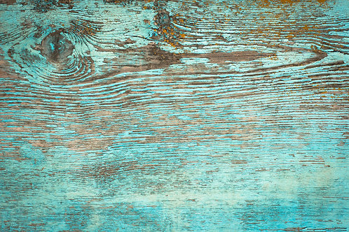 101. Distressed Green Paint Wood Slab Table - A1 Vinyl Photo Backdrop