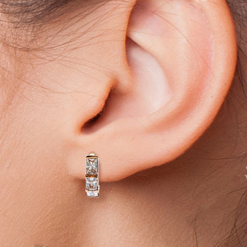 Huggie Earring on Model Studio Image