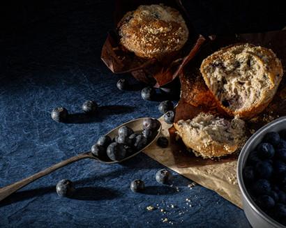 Blueberry Muffins Dark Photography