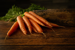 Carrot On a Rustic Table