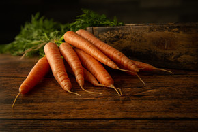 Carrots on a Rustic Table