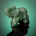 Green Onyx Elephant Charm