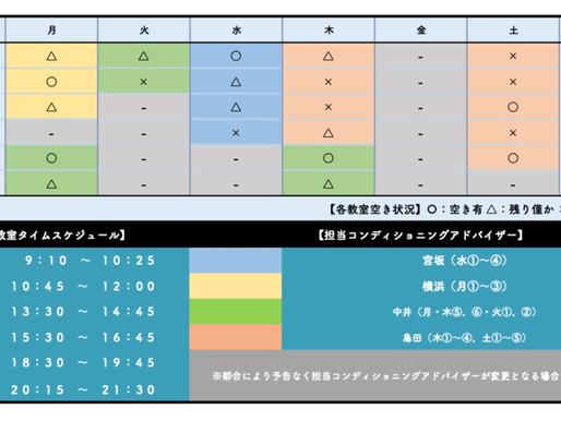 BB教室生駒南店:教室空き状況(2020年11月1日現在)