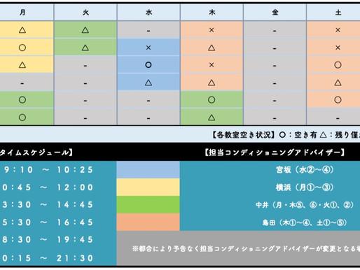 BB教室生駒南店:教室空き状況(2020年9月1日現在)