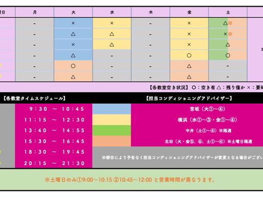 BB教室王寺駅前店:教室空き状況(2020年11月1日現在)