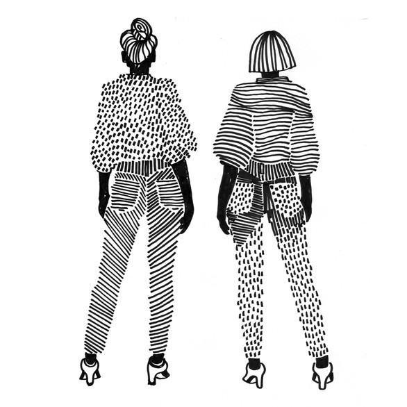 "Illustration ""Pattern girls 2"""