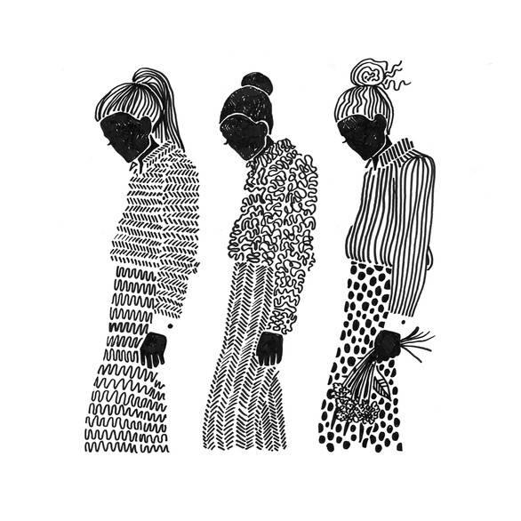 "Illustration ""Pattern girls 3"""