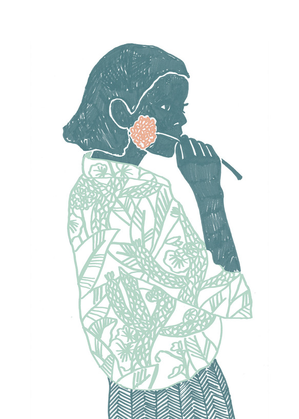 "Illustration ""Girl from la Serena"""